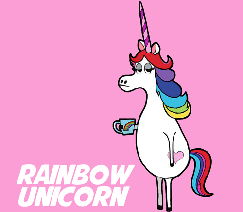 500x436 How To Draw Rainbow Unicorn From The Minions Movie Step By Step