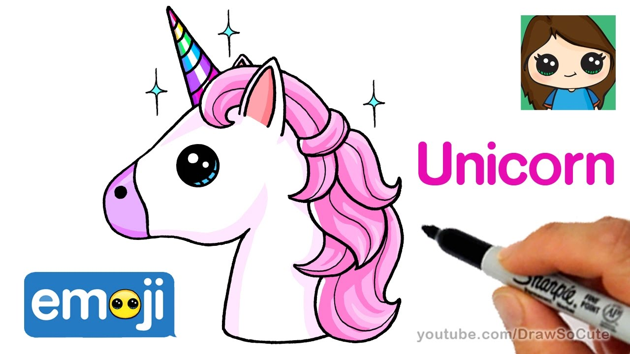 1280x720 How To Draw A Unicorn Emoji Easy