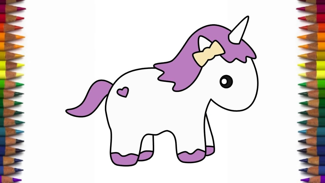 1280x720 How To Draw Cute Pony Unicorn Quick And Easy Step By Step Drawing