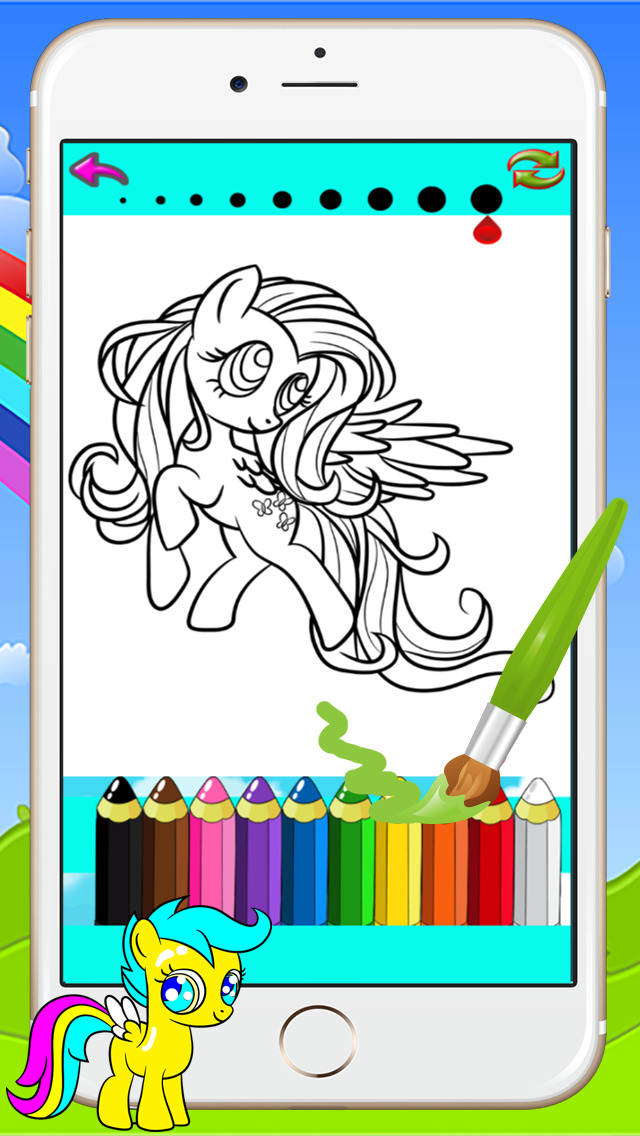 640x1136 Pony Coloring Books Kids Games