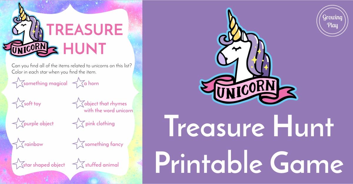 1200x628 Unicorn Treasure Hunt Game Free Printable