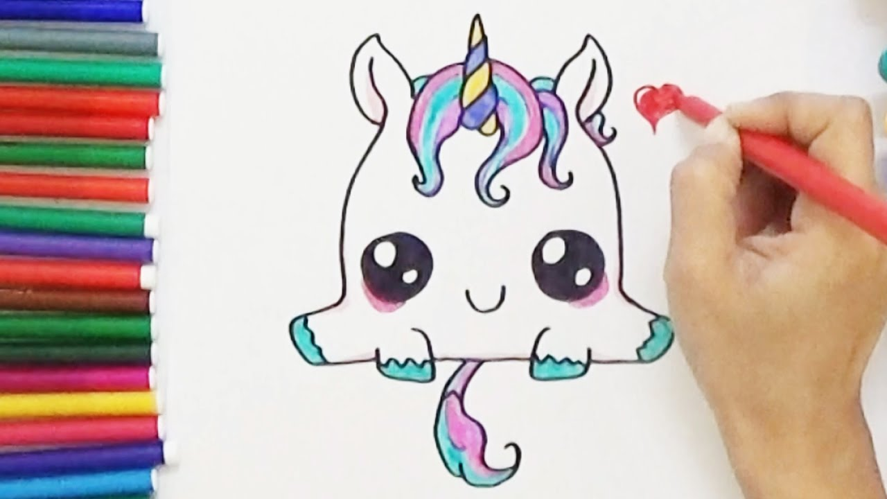 1280x720 Amazing Drawing Of A Unicorn How To Draw Cute And Easy Bodraw