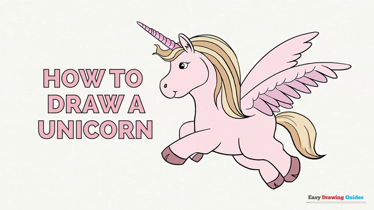 1280x720 How To Draw A Unicorn In A Few Easy Steps Drawing Tutorial