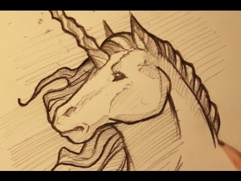 480x360 Draw A Unicorn, Sketching A Unicorn Horse, Step By Step