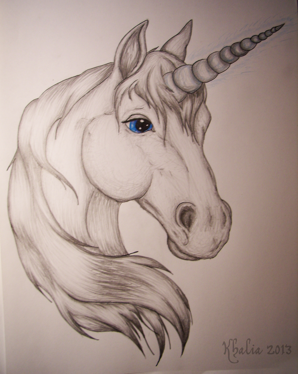 1024x1285 Unicorn Head Drawing Unicorn Headkhaliaart