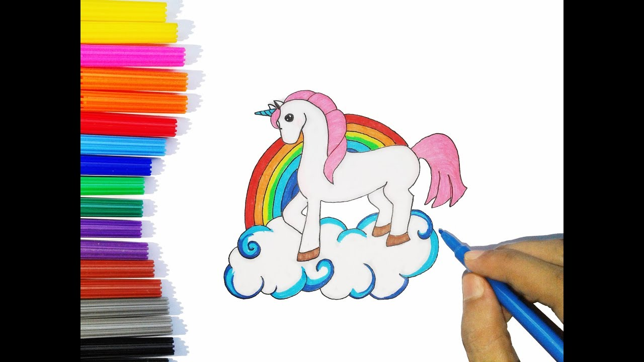 1280x720 Drawing Unicorn Horn Easy Step By Step Art For Kids