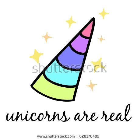 450x460 Unicorns Are Real, Colorful Unicorn Horn With Sparkle Glitters