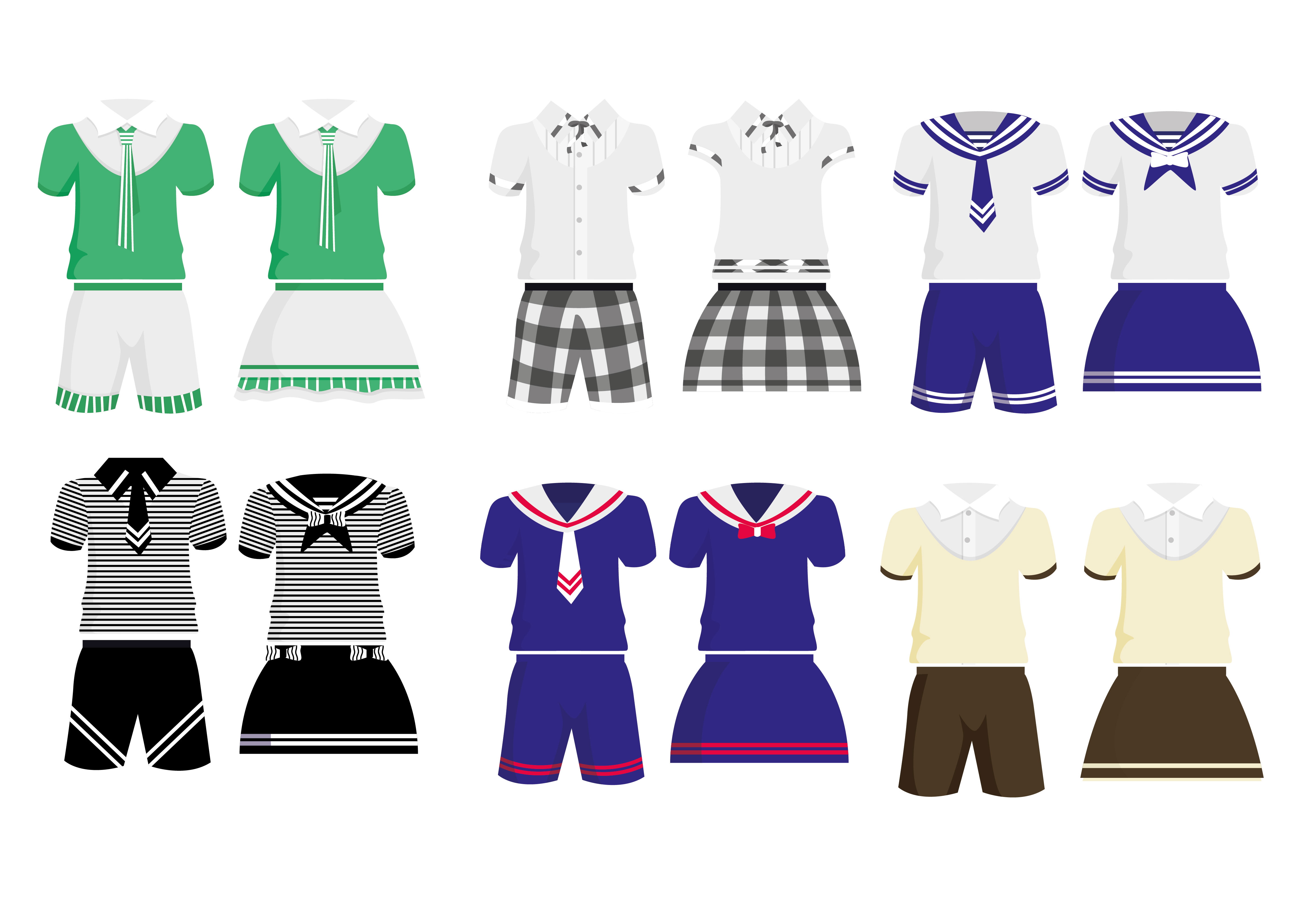 4567x3250 School Children Uniform Vector Free Vector Download In Ai, Eps