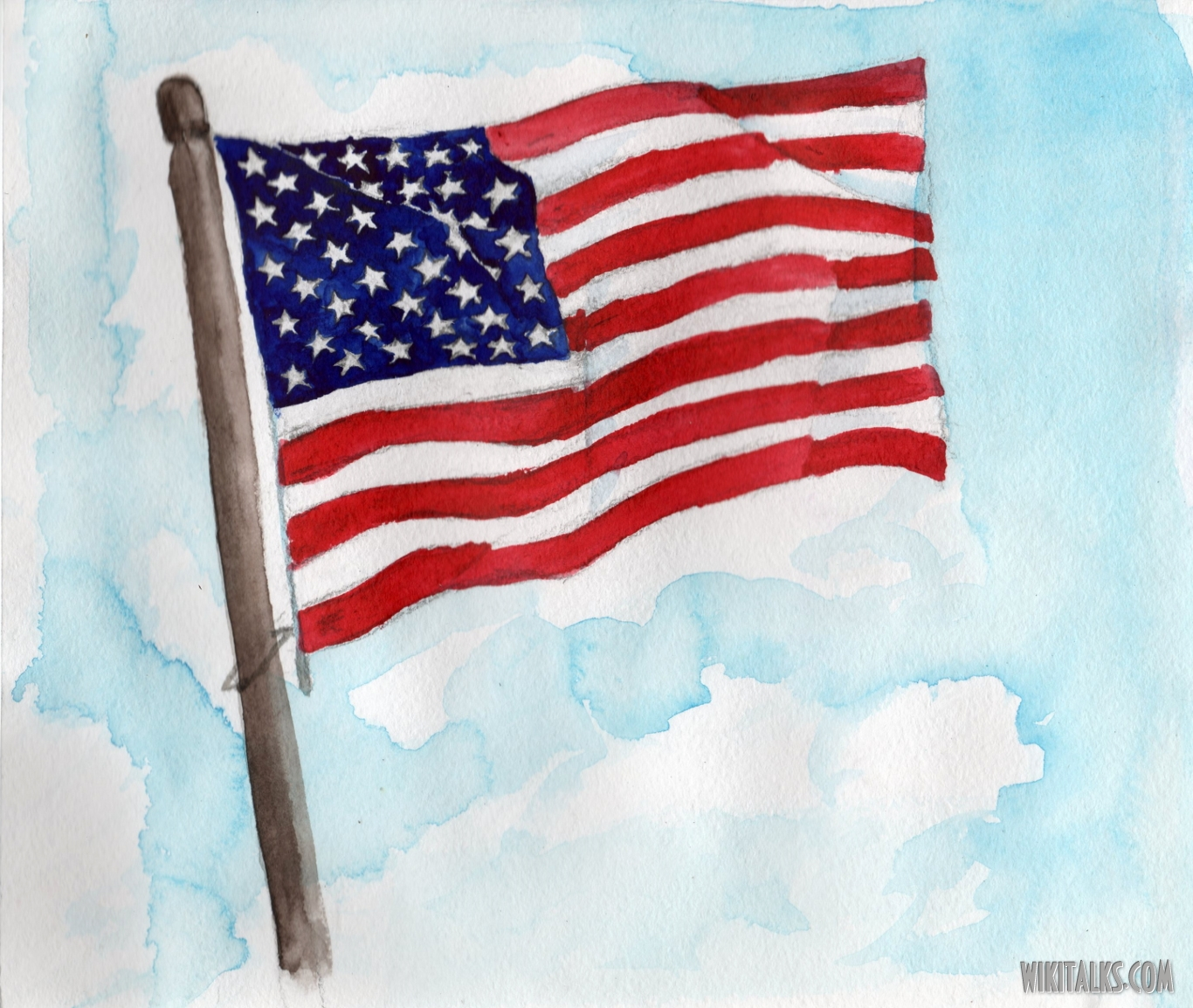 1366x1154 How To Draw Us Flag Kids How To Paint The Us Flag With Water