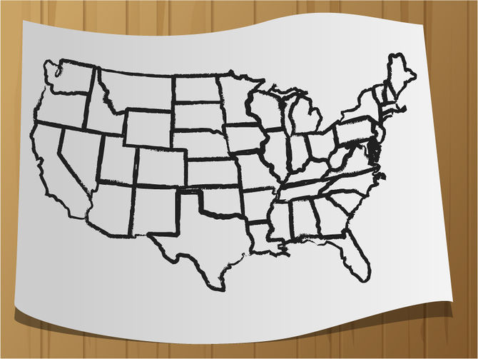 670x503 How To Draw A Map Of The Usa 9 Steps (With Pictures)