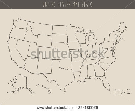450x369 Sketch Drawing Us Map Online 9 Photos Of Outline Drawing Of United