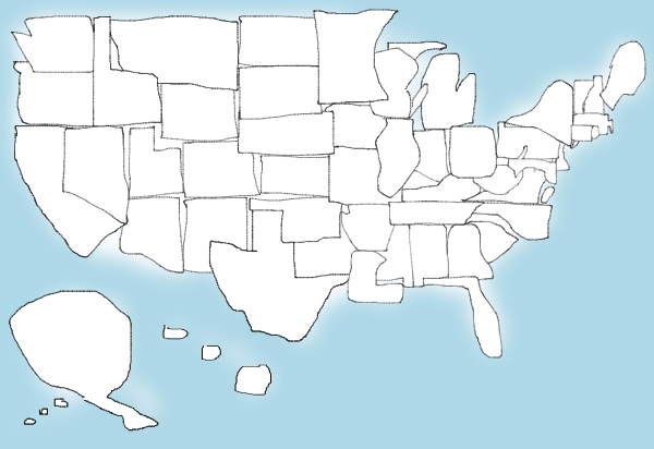 600x412 United States Quiz See How Well You Can Draw All 50 States Time