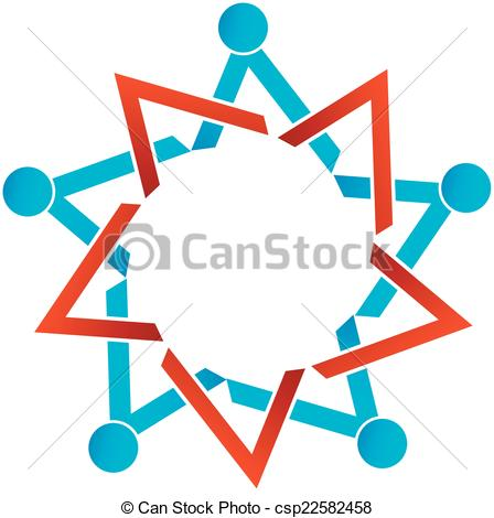 448x470 People Together Showing Unity Business Logo Clipart Vector