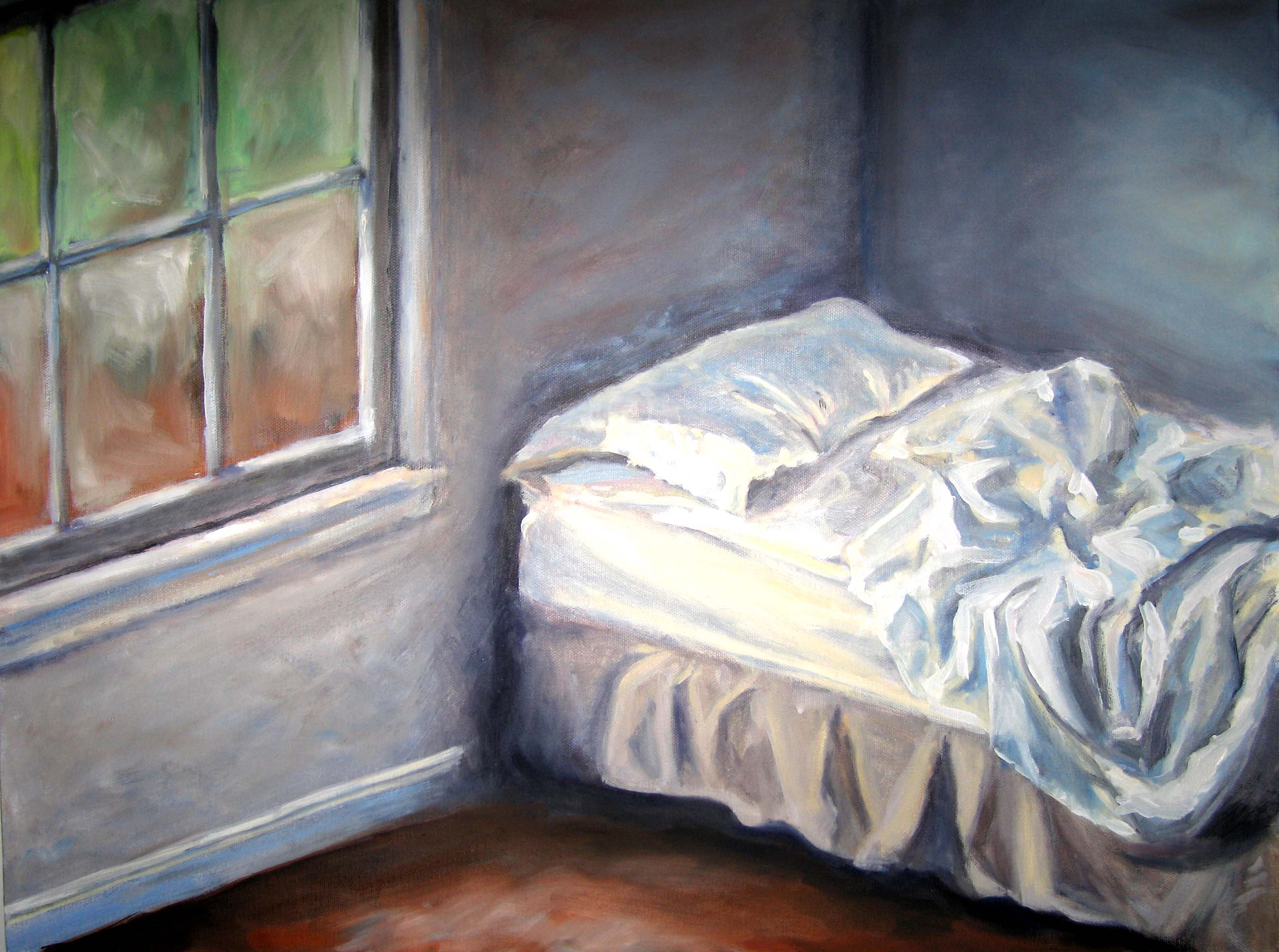 unmade bed side view. 2772x2064 Unmade Bed Kate#39s Paintings Side View B