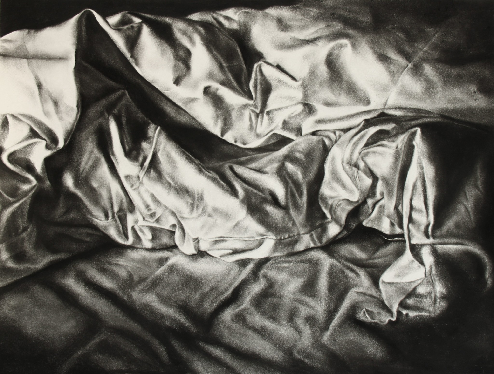 2048x1551 Unmade Bed 3 Charcoal Drawing By My Own Hand