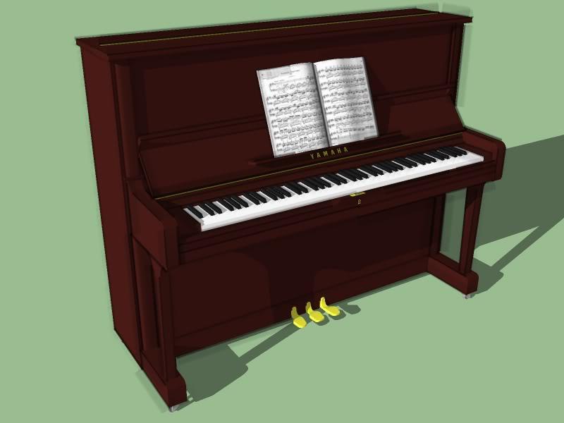 800x600 Piano 3d Drawing