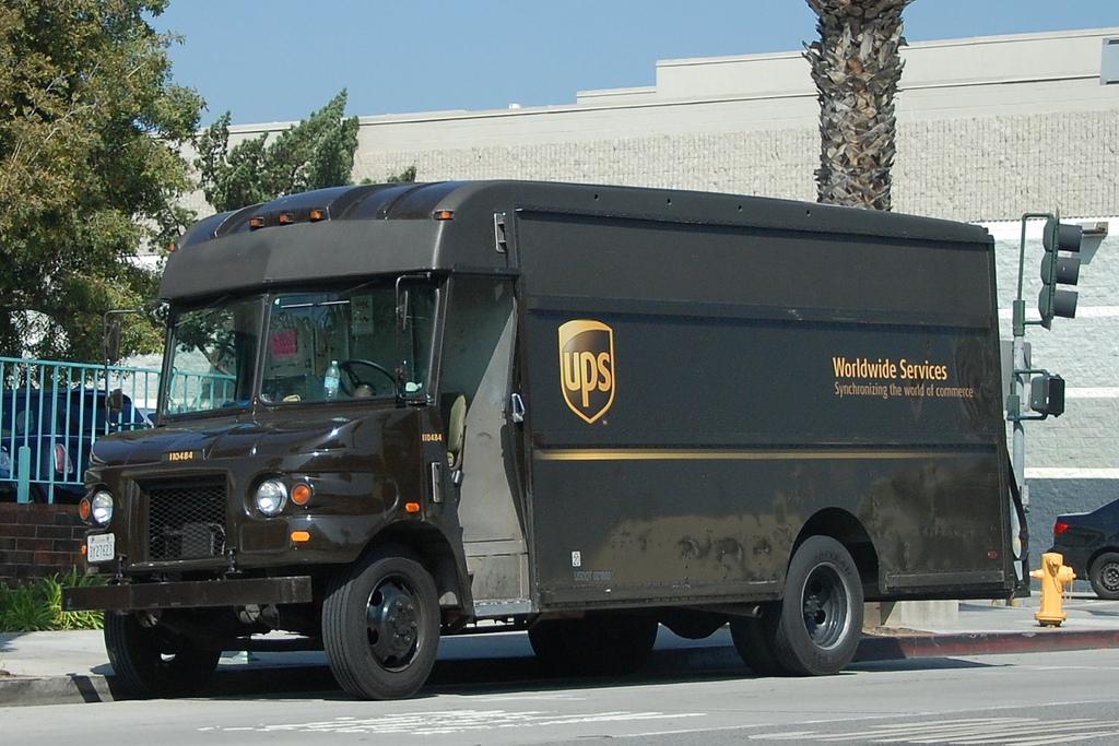 1024x683 United Parcel Service (Ups) Delivery Truck Navymailman