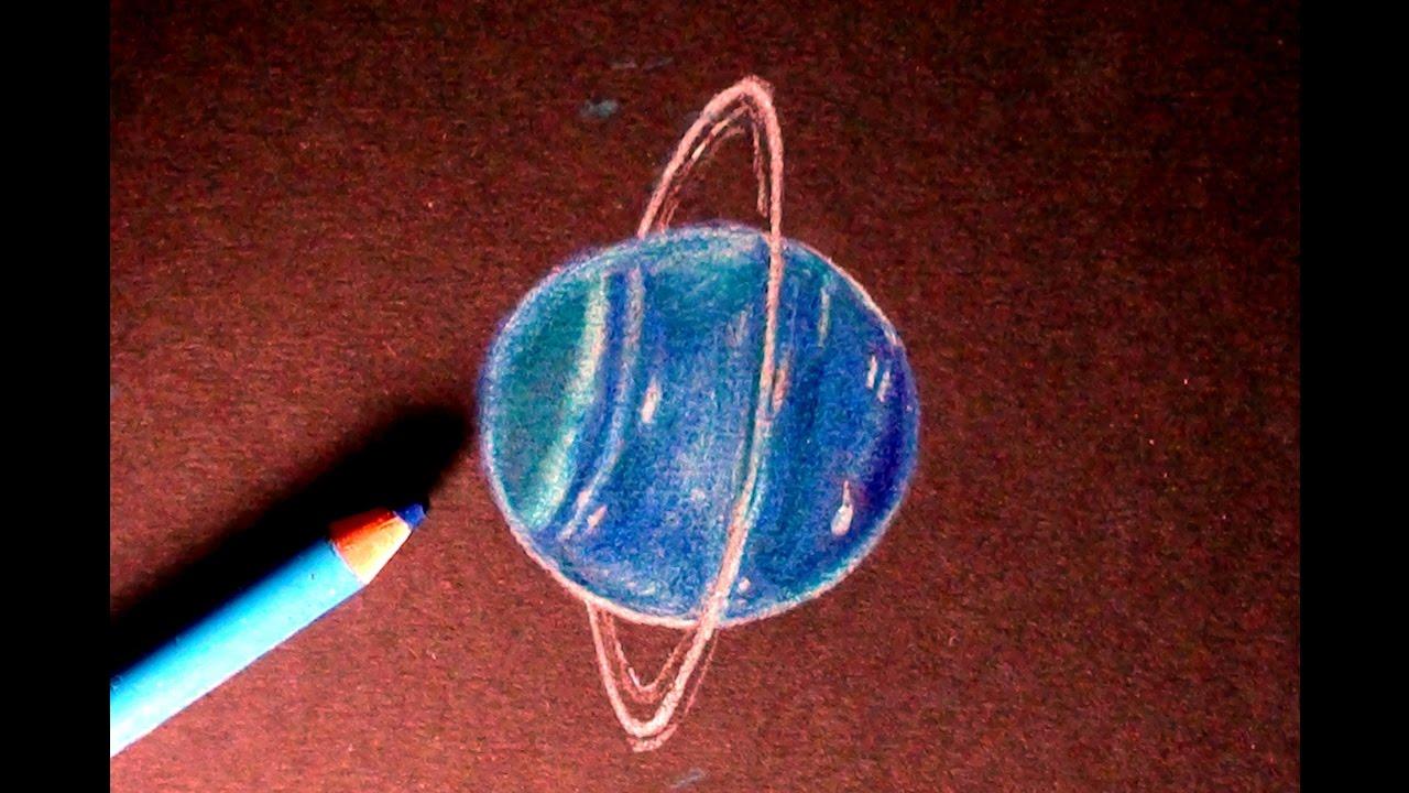 1280x720 Drawing Speedpaint Uranus (The Planet!!) How To Draw Uranus