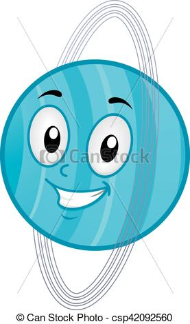 277x470 Mascot Planet Uranus. Illustration Of A Uranus Mascot Clip Art