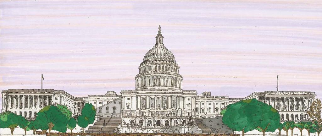 1024x433 Drawing, U.s. Capitol Building, Washington, D.c.