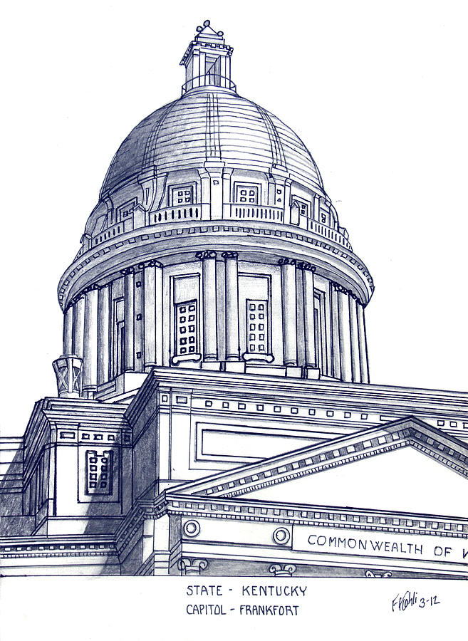 657x900 Kentucky State Capitol Drawing By Frederic Kohli