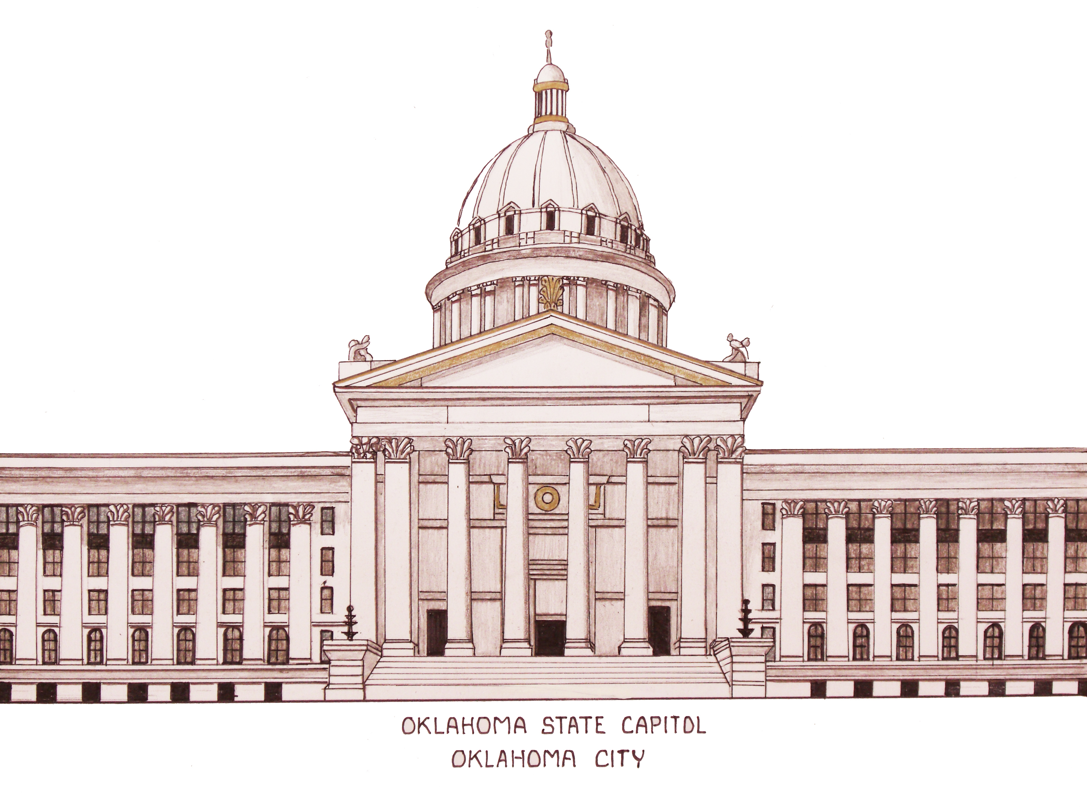 3596x2672 Oklahoma State Capitol Building In Oklahoma City. More Info