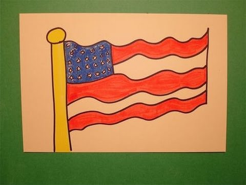480x360 Let's Draw The American Flag!