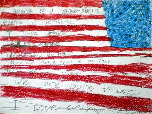500x374 Photo This Is An American Flag Drawing By Allison Corry