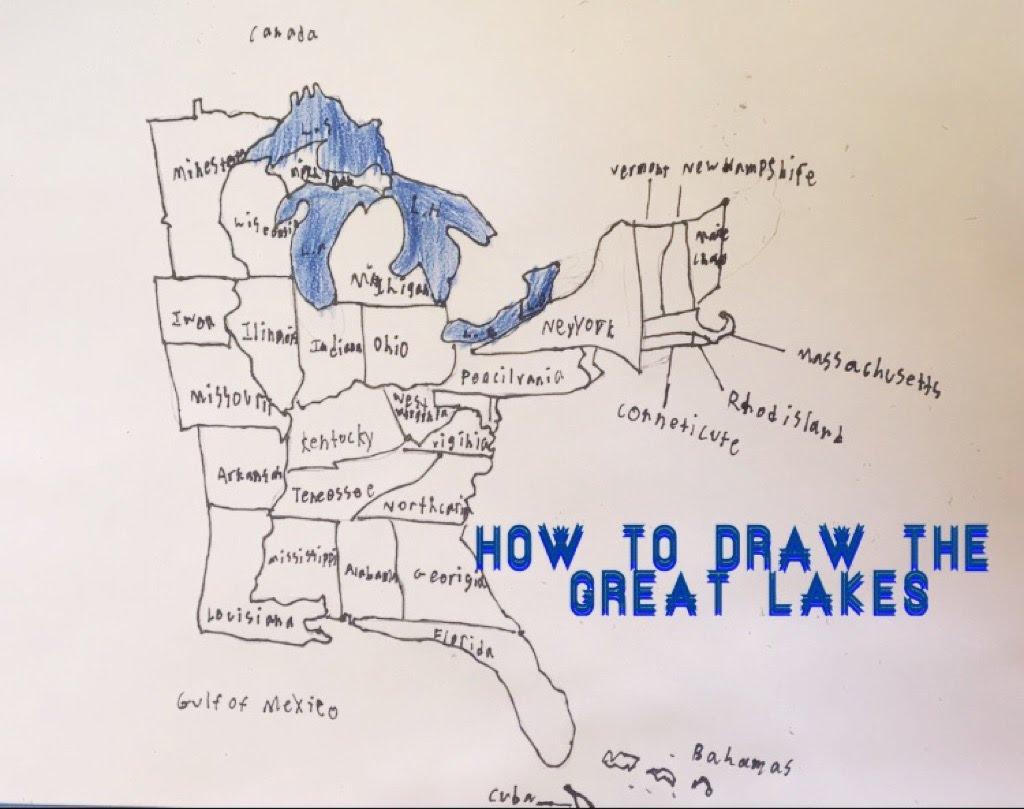 1024x809 Al Franken Draws A Map Of Us Us Senator Al Frankens Bad Giraffe
