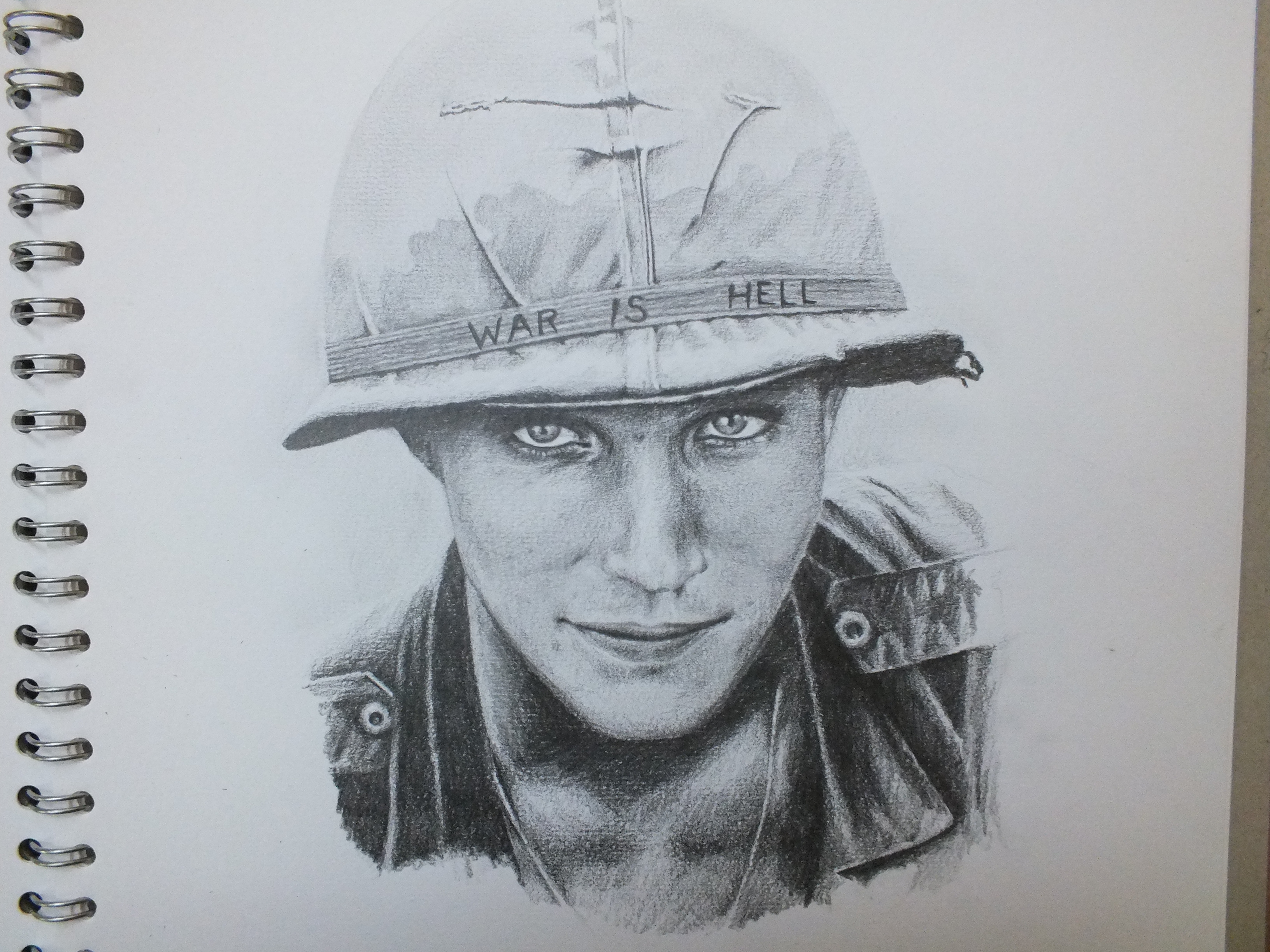 3264x2448 Pencil Drawing Based On A Photograph Of A Us Soldier In Vietnam