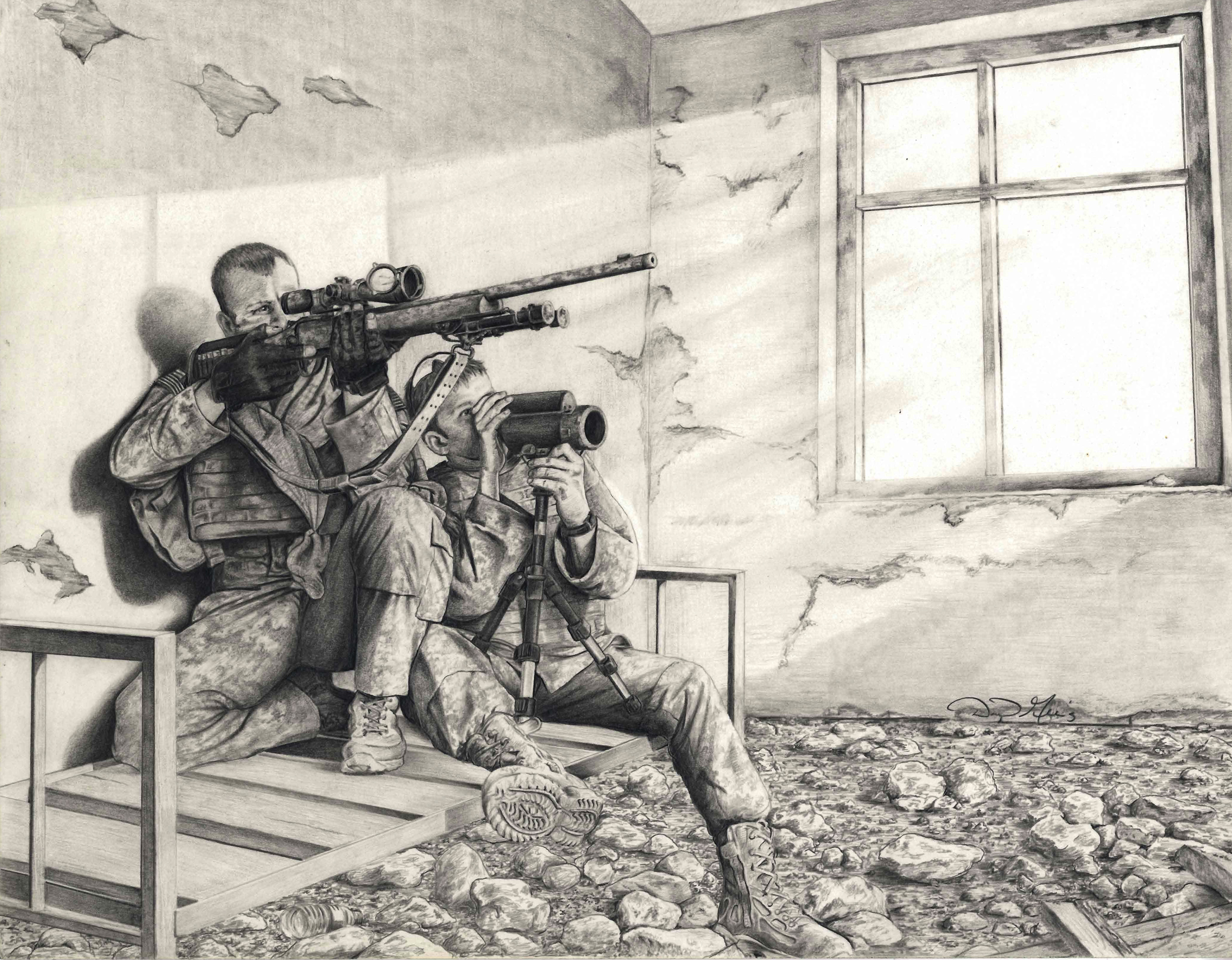 2700x2103 Sketch Artist' Soldier Uses Pencil To Capture Army Life Article