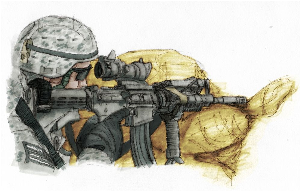 1000x637 Us Soldier By Shrinking Universe Soldiers Drawing