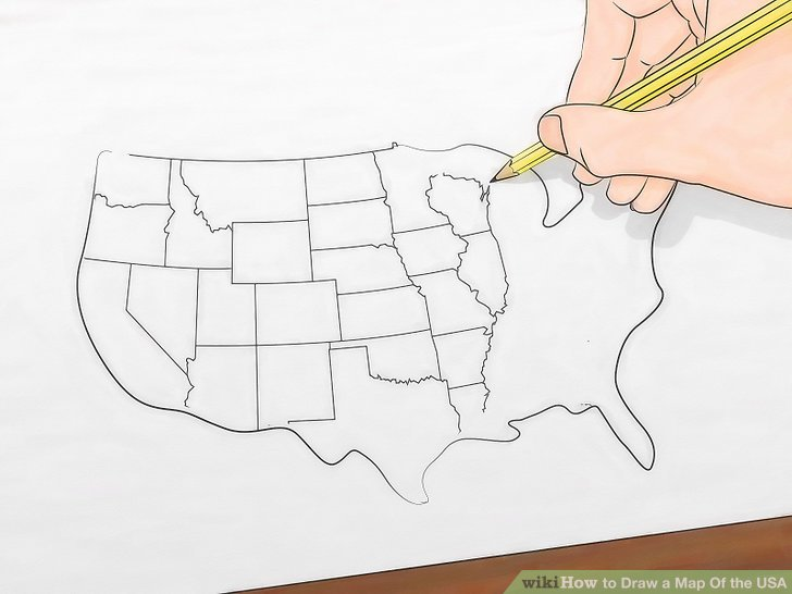 728x546 How To Draw A Map Of The Usa 9 Steps (With Pictures)