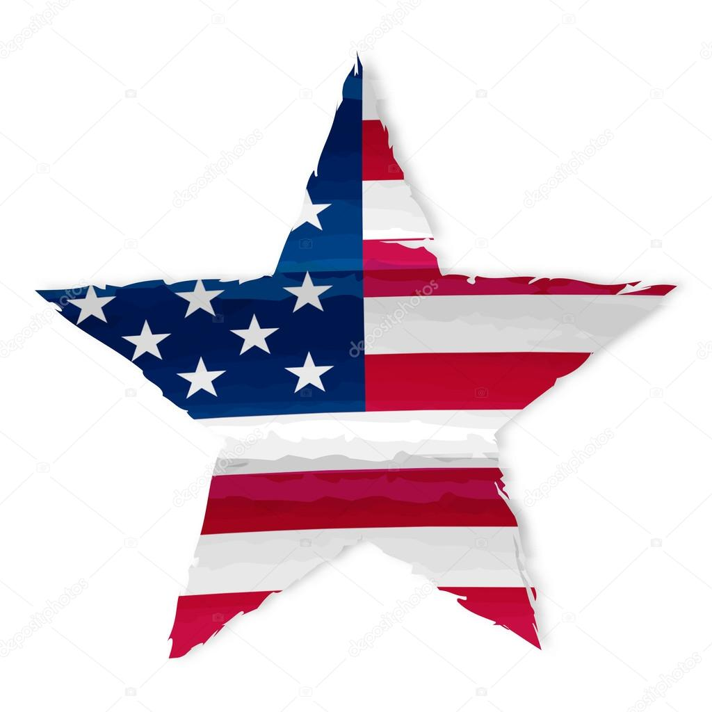 1024x1024 Star In Usa Flag Drawing Stock Photo Marinini