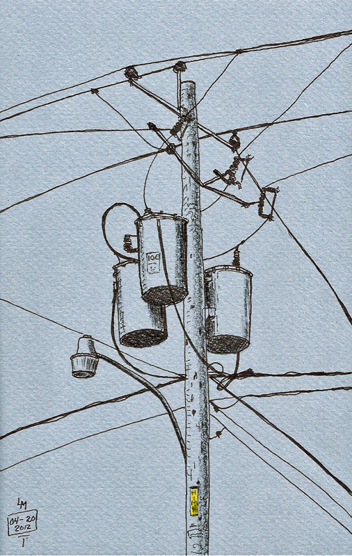 Utility Pole Drawing at GetDrawings.com | Free for personal use ...