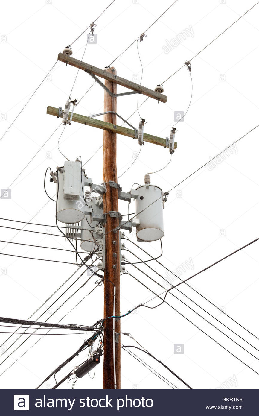 866x1390 Utility Pole With Power Cables And Transformers Stock Photo