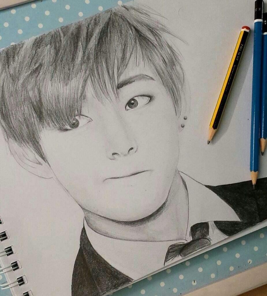 925x1024 V Drawing Kim Taehyung Amino