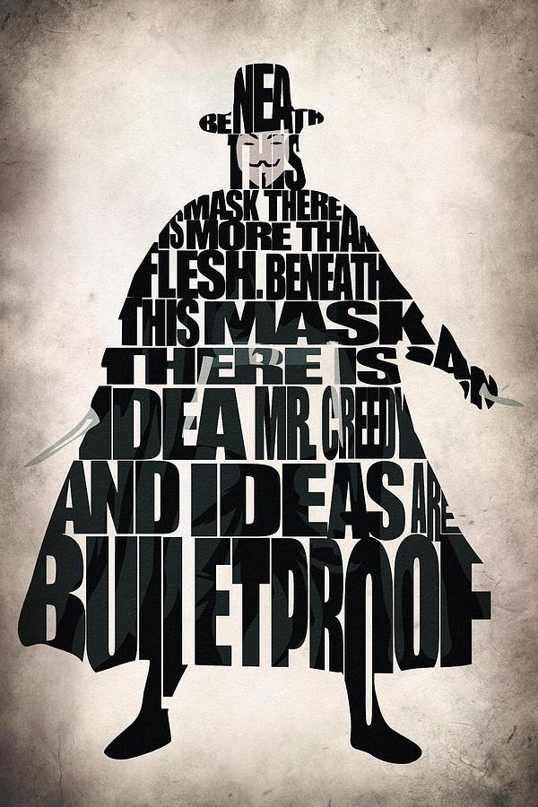 600x900 V For Vendetta Digital Art By Inspirowl Design
