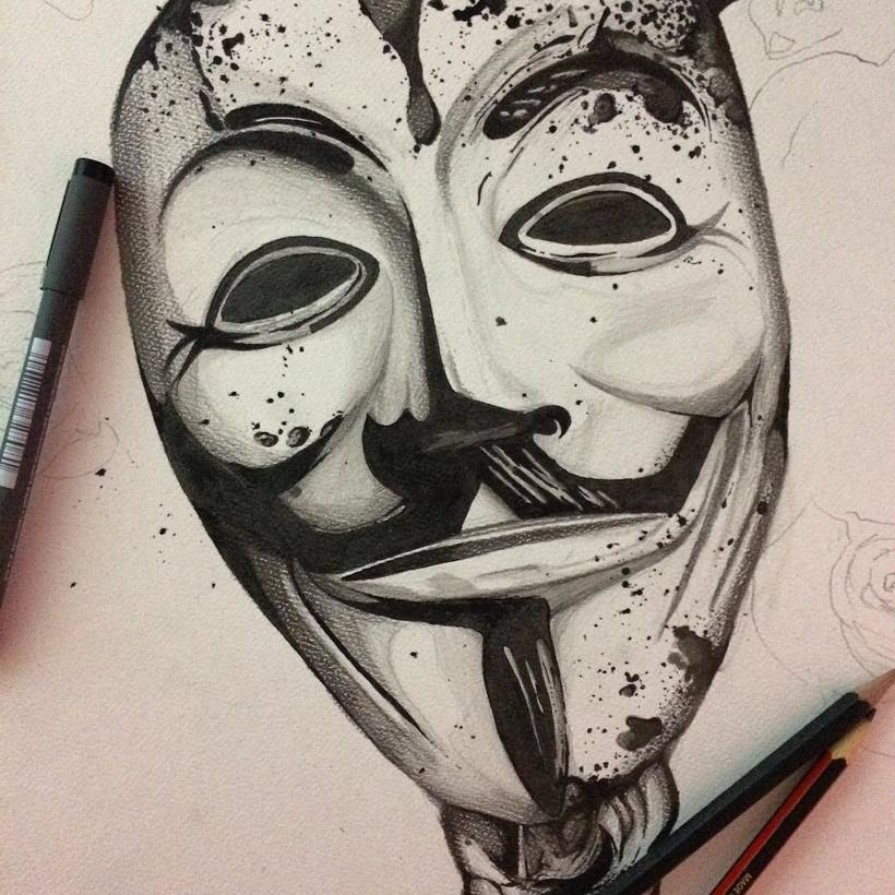 820x820 V For Vendetta ) Domestika