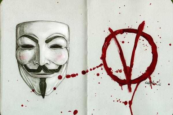 600x399 V For Vendetta By On @ V