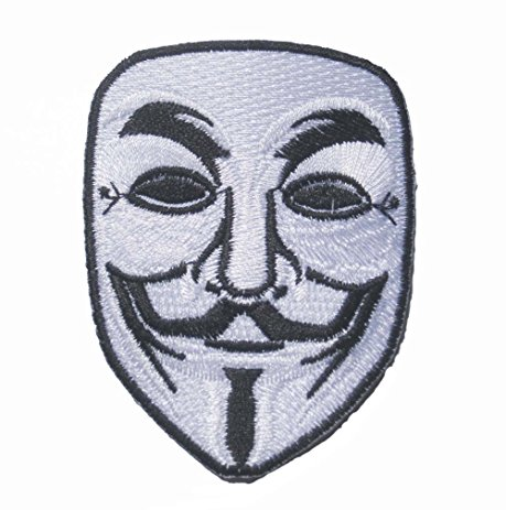 459x463 V For Vendetta Mask Mask Sew Iron On Patch Badge