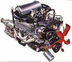 236x206 A Sectional View Of The Rover V8 Engine. A Masterpiece Of Design