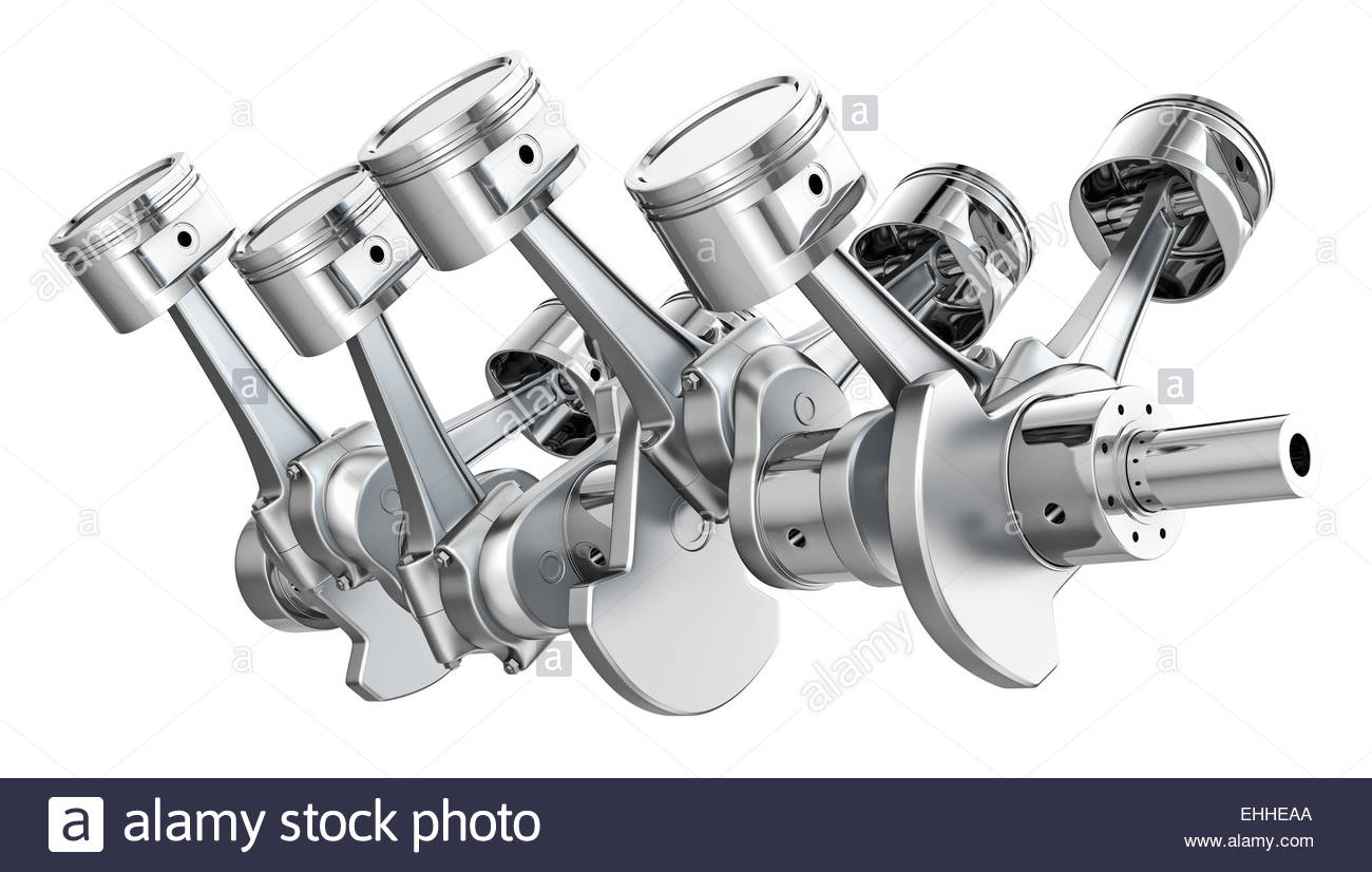 1300x826 V8 Engine Pistons On A Crankshaft Stock Photo 79675074