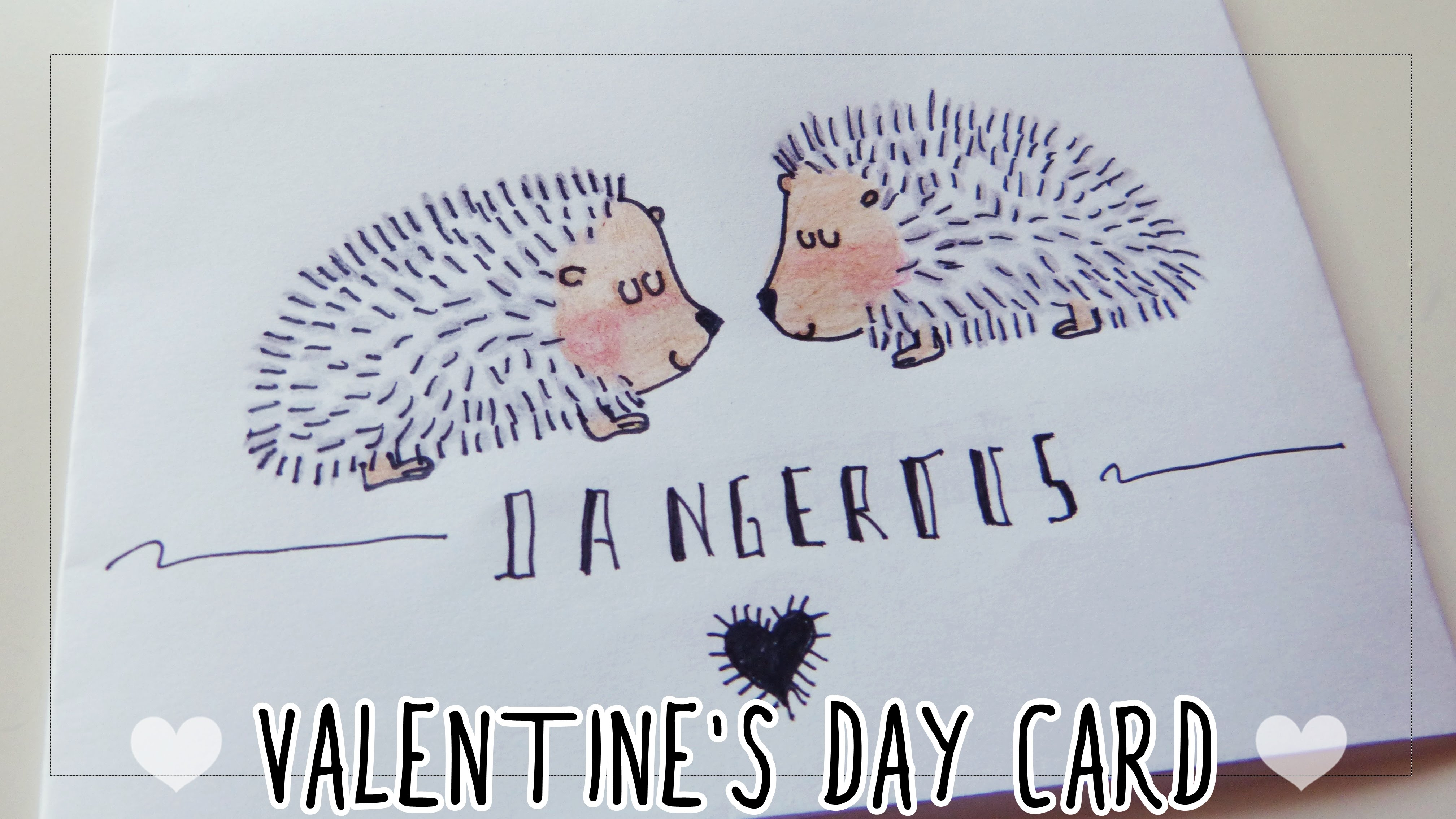 4033x2269 Valentine's Day Card For Boyfriend Drawing Hedgehogs