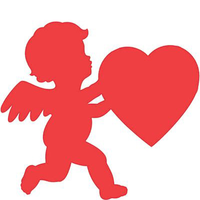 400x400 Cupid Cutouts For Valentine's Day Decorations Valentine's Day