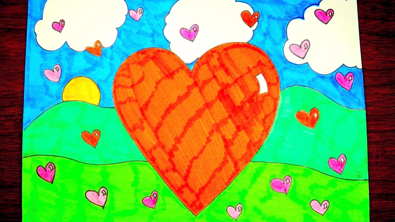 1280x720 How To Draw A Valentine Heart, Step By Step, Easy For Kids