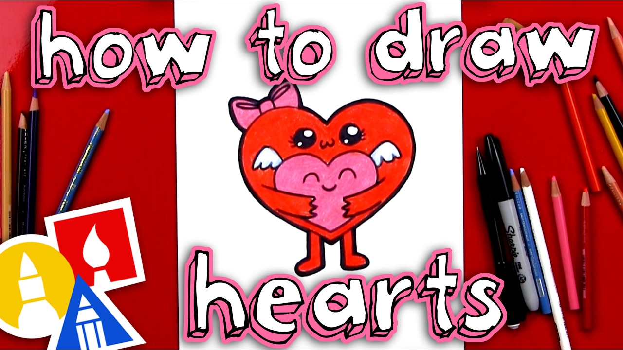 1280x720 How To Draw Hugging Hearts For Valentine's Day