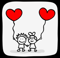 199x195 Valentine's Day Kids Lovers Holding Hands Cartoon Stock Vector