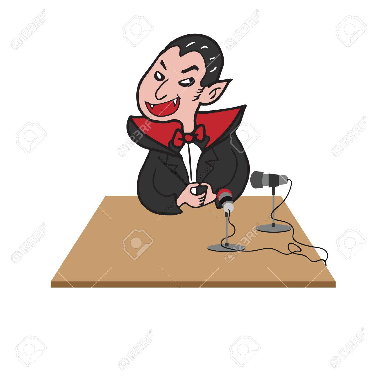 1300x1300 Vampire Interview Microphone Cartoon Drawing Royalty Free Cliparts