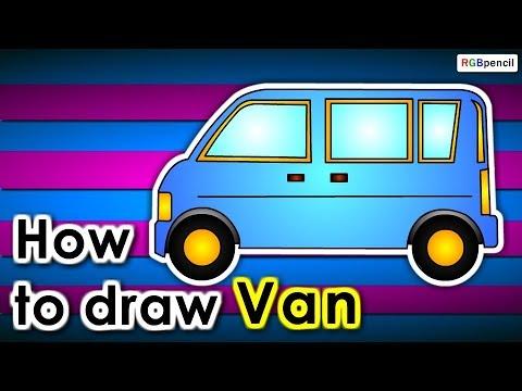 480x360 How To Draw Van Step By Step How To Draw Van For Kids Van Easy